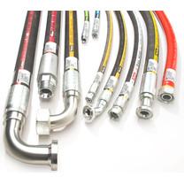 2 SC Hochdruckschlauch zwei Stahlgeflechte EN 857 Hydraulik Wasser Druckluft