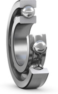 Deep groove ball bearing with steel cage cut view_JPEG_Full_resolution