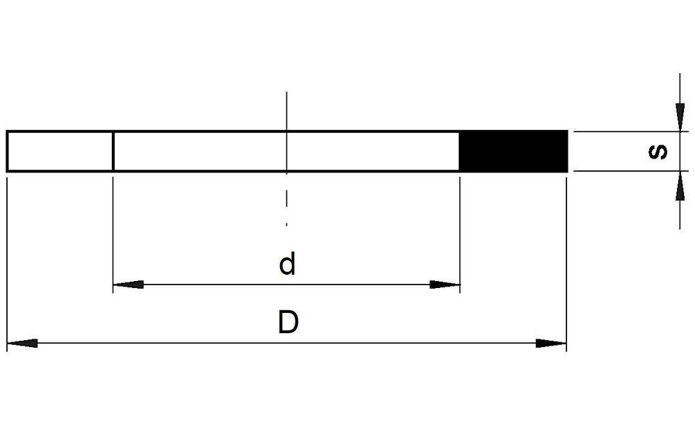 25 Stück Kupferringe Dichtringe 21x26x1,5 mm M 21